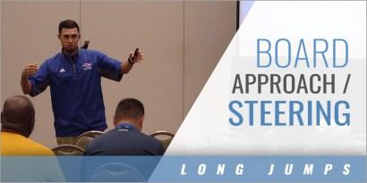 Long Jump: Board Approach/Steering