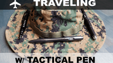 Traveling with a tactical pen