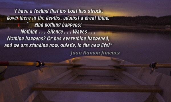 poem boat Juan Ramon Jimenez