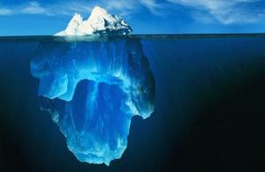 iceberg: la chance n'est que la partie visible de beaucoup de travail et d'efforts