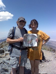 Ken and Coach Donna Laree - Telescope Peak, Death Valley