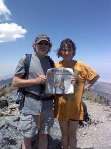 Ken and Coach Donna Laree - Telescope Peak, Death Valley