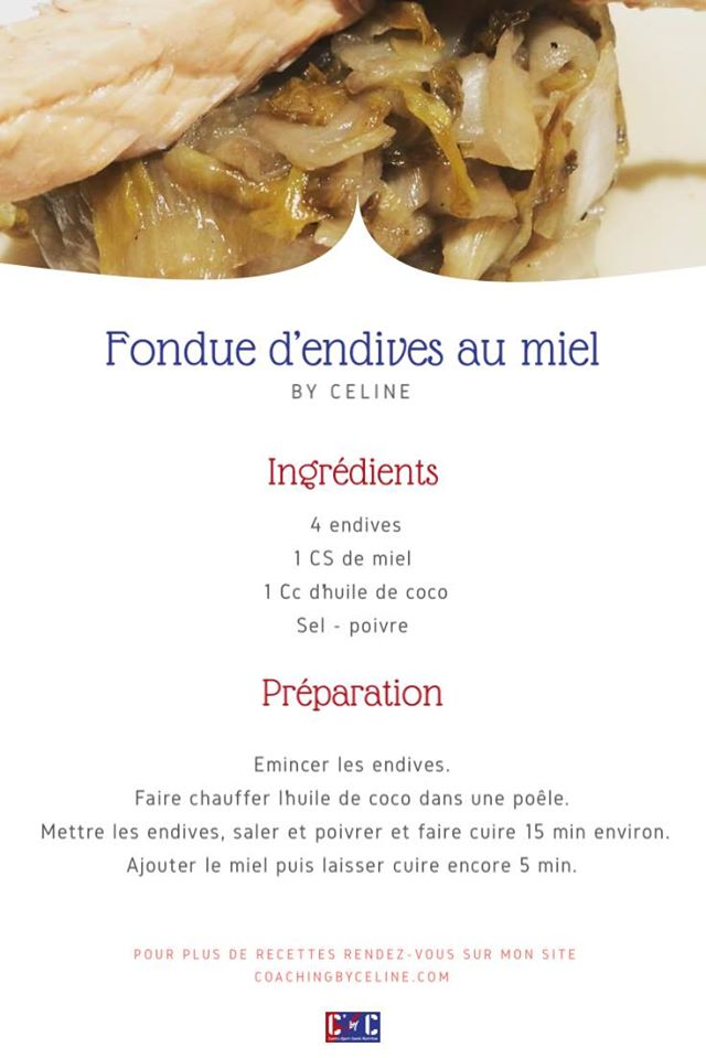 fondues endives miel