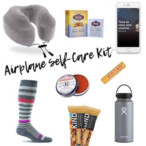 A Peek Inside My Airplane Self-Care Kit