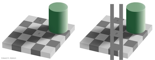 checker shadow illusion revealed
