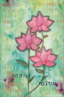 afbeelding van quote no mud no lotus op coachingmetsanne.com life coach den haag