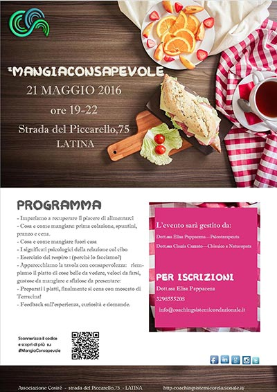 Consapevolezza mangiaconsapevole latina