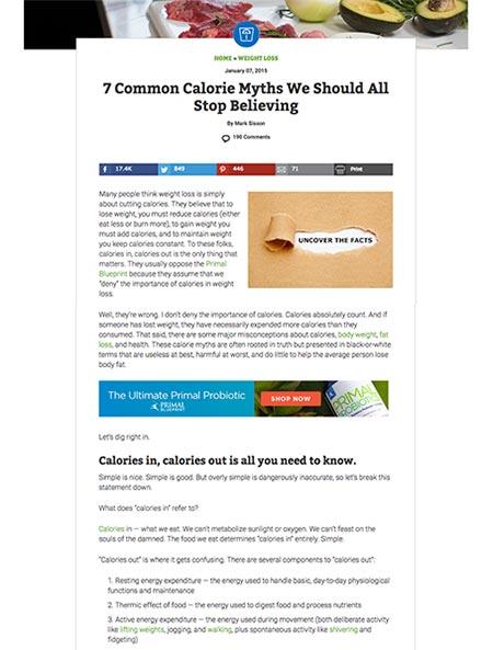 modern web design trend - one column