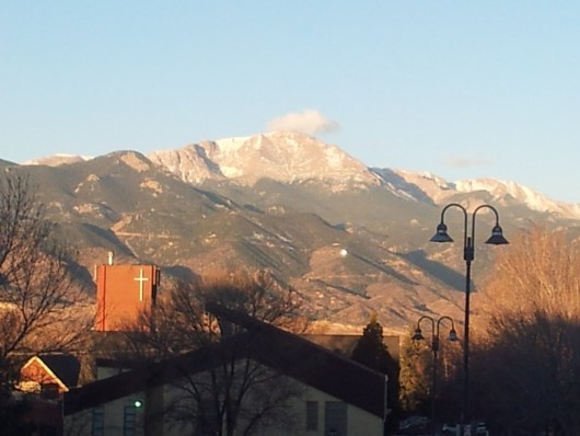 Sunrise on the Colorado Rockies
