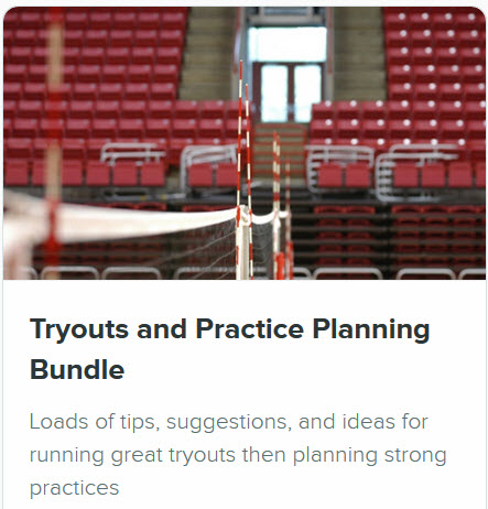 Volleyball Coaching Courses - Practice and Tryouts Bundle