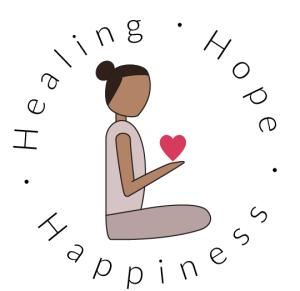 Healing Hope Happiness logo of Coach Keya