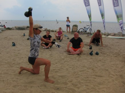 Peninsula Hel Camp, 2012, Kettlebell session, TGU technique