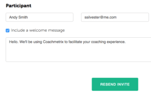 Edit name and email Coachmetrix
