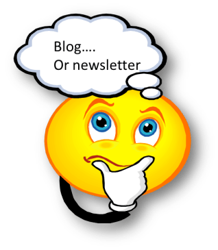 Blog or newsletter