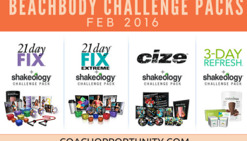 june 2016 beachbody challenge pack sale