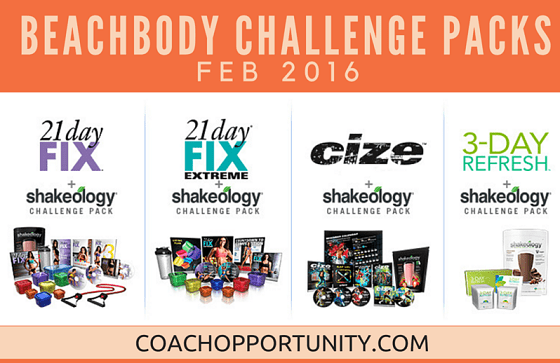 Beachbody Challenge Packs Sale February 2016