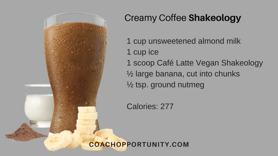 creamy coffee shakeology recipe