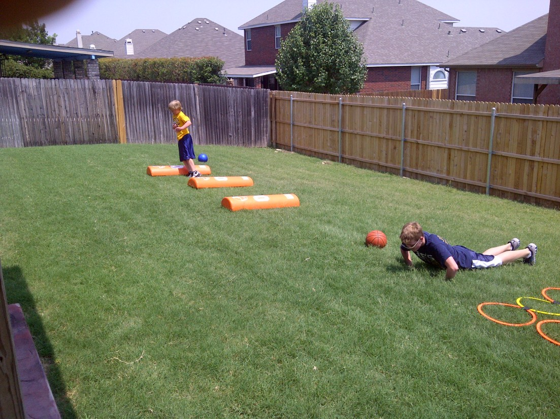 Burst Speed Camp in Backyard