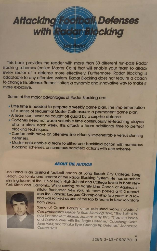 back cover of Radar Blocking Book