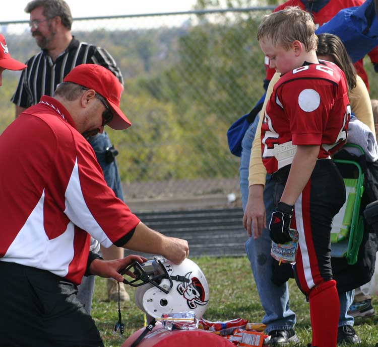 motivating youth football players with stickers