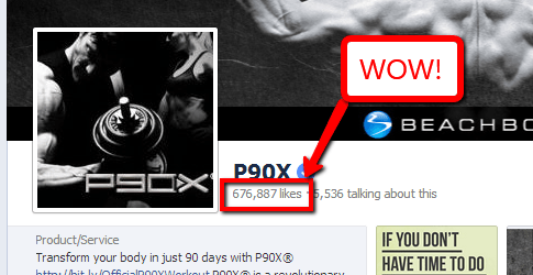 P90x Facebook Fan Page
