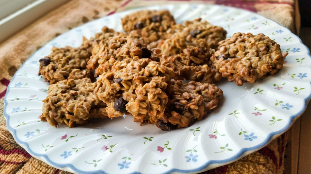 Super healthy oatmeal chocolate chips cookies