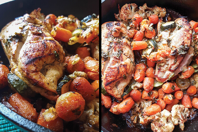 Cast Iron Chicken Skillet | cast iron recipes | skillet chicken
