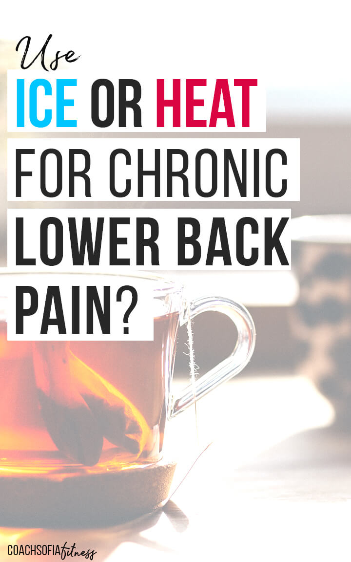 Should you use ice or heat for lower back pain? find out in this blog post where I break down best uses for ice and heat to treat lower back pain, chronic piriformis syndrome, sciatica pain, hip pain and also spine arthritis. I've suffered from all of these conditions and have used ice and heat accordingly.  Using the wrong method can make things worse so make sure you watch this video post before deciding. #chronicbackpain #iceorheat #backpaintreatments