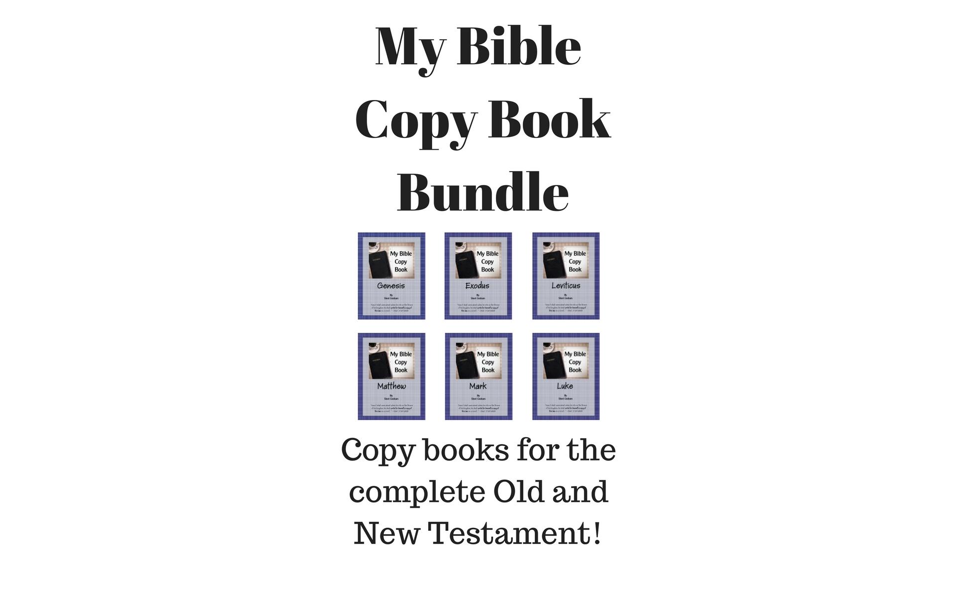 Ebook Bundle: My Bible Copy Book Bundle