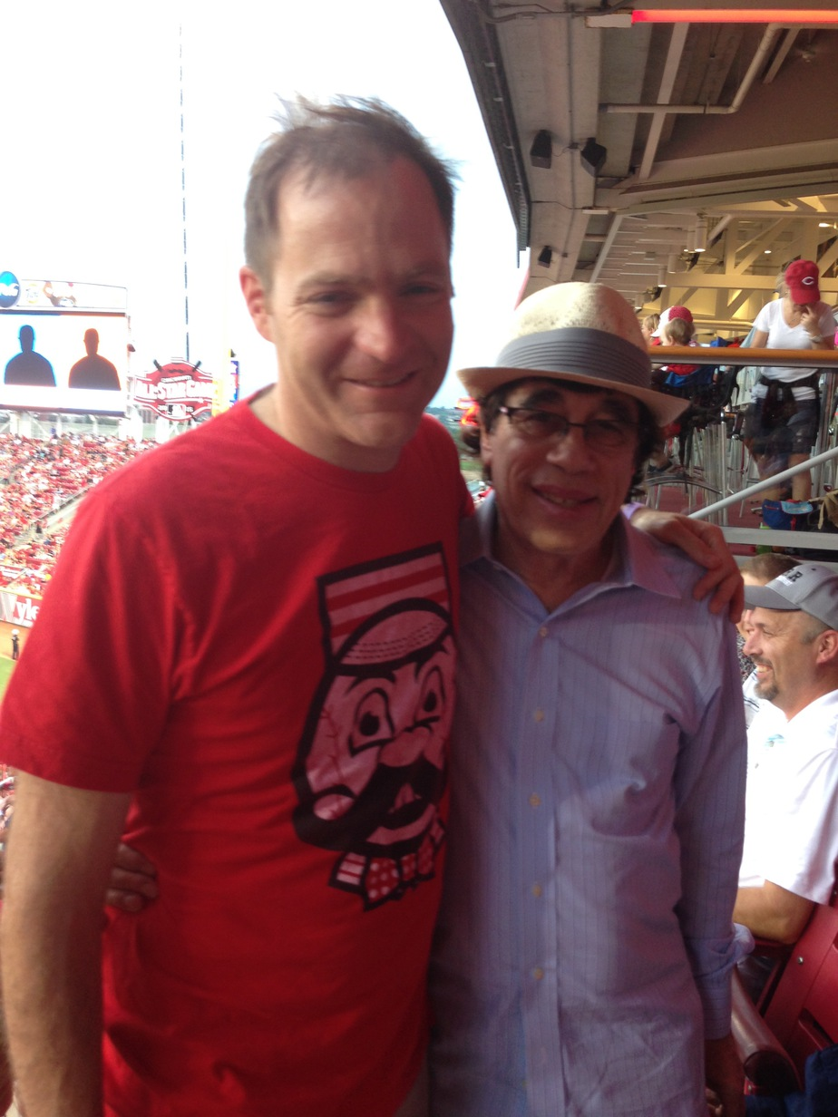 Steven Kapor and I at the ball park in Cincinnati during a fun evening event out for Funddriver's annual Planning Retreat.  Congratulations to Steven for completing his first year of the Entrepreneur's Masters Program!