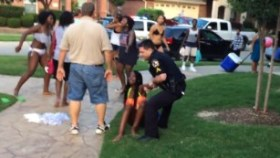 Texas officer resigns after 'indefensible' actions at pool party