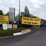 Protesters greet mining conference field trip, demanding rapid phase-out of coal