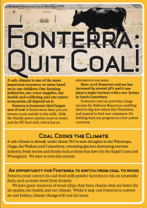 Our Fonterra Quit Coal Leaflet - click to download