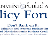 Chicago's MBE/WBE Program and Discrimination in Business Credit Markets