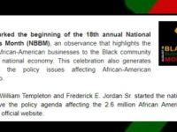 COAL Action - August is National Black Business Month