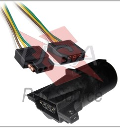 details about 2ft trailer light wiring harness 4 pin flat plug wire connector 24 with adapter [ 1000 x 1000 Pixel ]