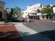 Curb extensions at Chapala and De La Guerra