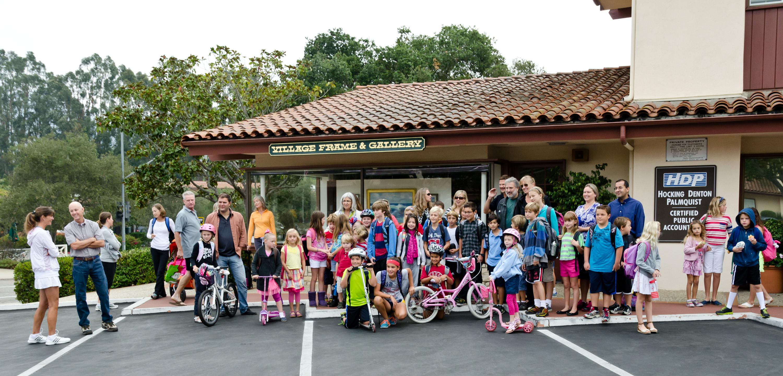 A happy school of Walk & Rollers!