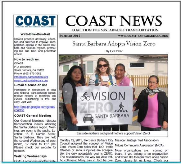 COAST Summer 2105 Newsletter