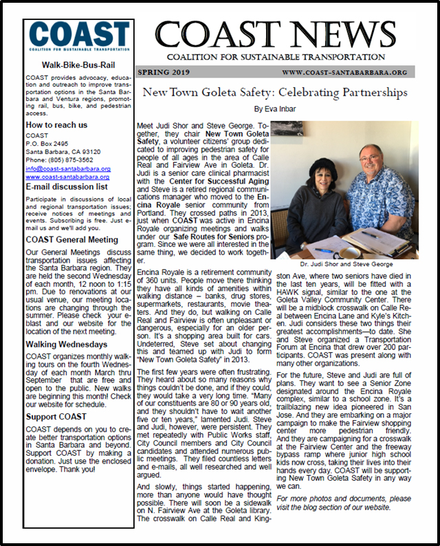 Our Spring, 2019 'COAST News'letter