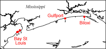 Before and After Photo Comparisons, Mainland Mississippi