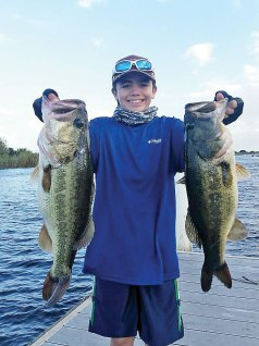 Robert Di Nino, 13, with his big bass  he caught in a Gambler tournament  on  Lake Okeechobee.