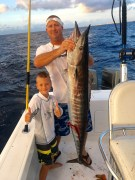 Tripp Small with his 38.7 lb wahoo off of Palm Beach
