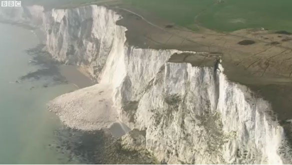 White Cliffs Of Dover Suffer Large Collapse UK Coastal Care