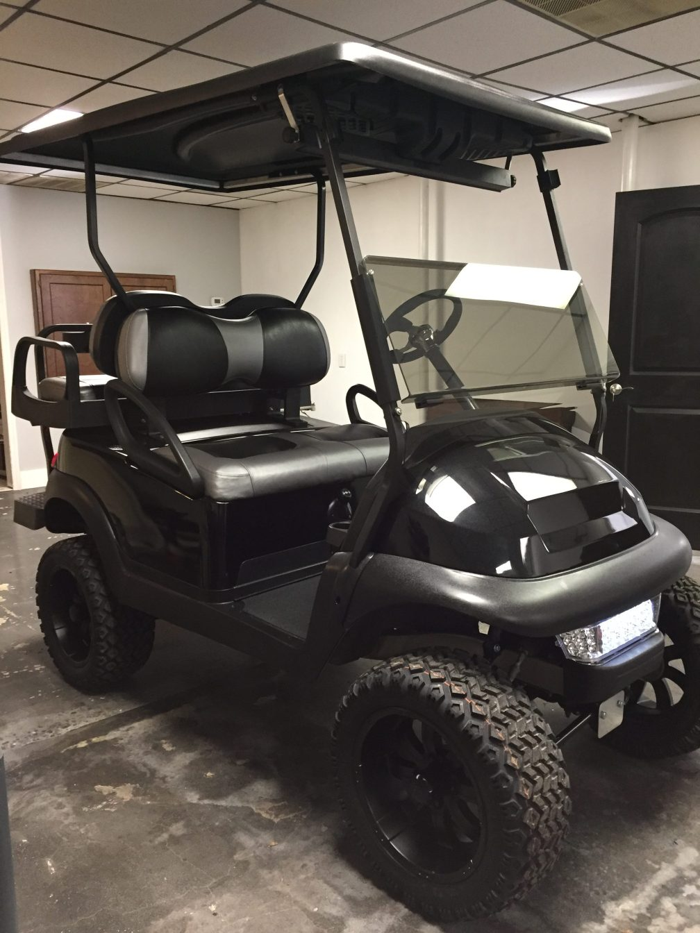 Silver and Gray Custom Golf Cart Seats