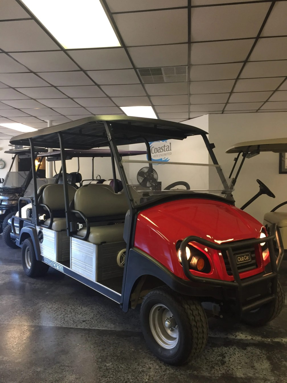 Shuttle Club Car- Coastal Carts unlimited