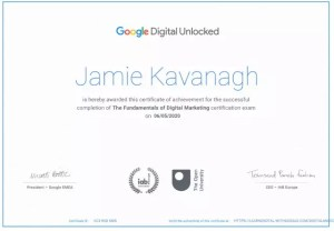 Google content marketing training during lockdown