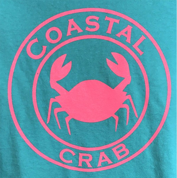 Youth Long Sleeve T-Shirt Turquoise with Pink Imprint