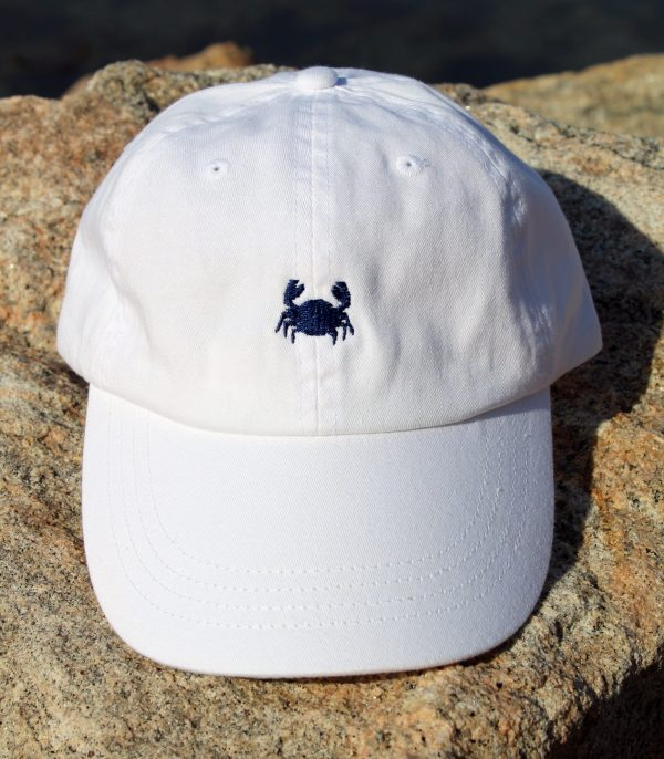 Trucker White with Navy Embroidery