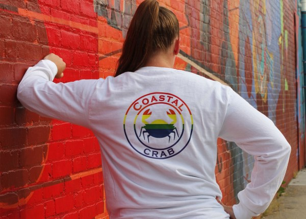 Adult Long Sleeve T-Shirt White with PRIDE